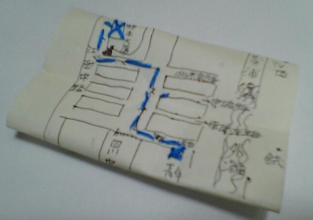 地図 Map  Hidemi Shimura