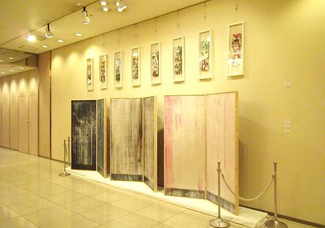 K'sコンセプト 志村英美と吉本伊織展 「近くの色、彼方の色彩」 展示風景   Hidemi Shimura