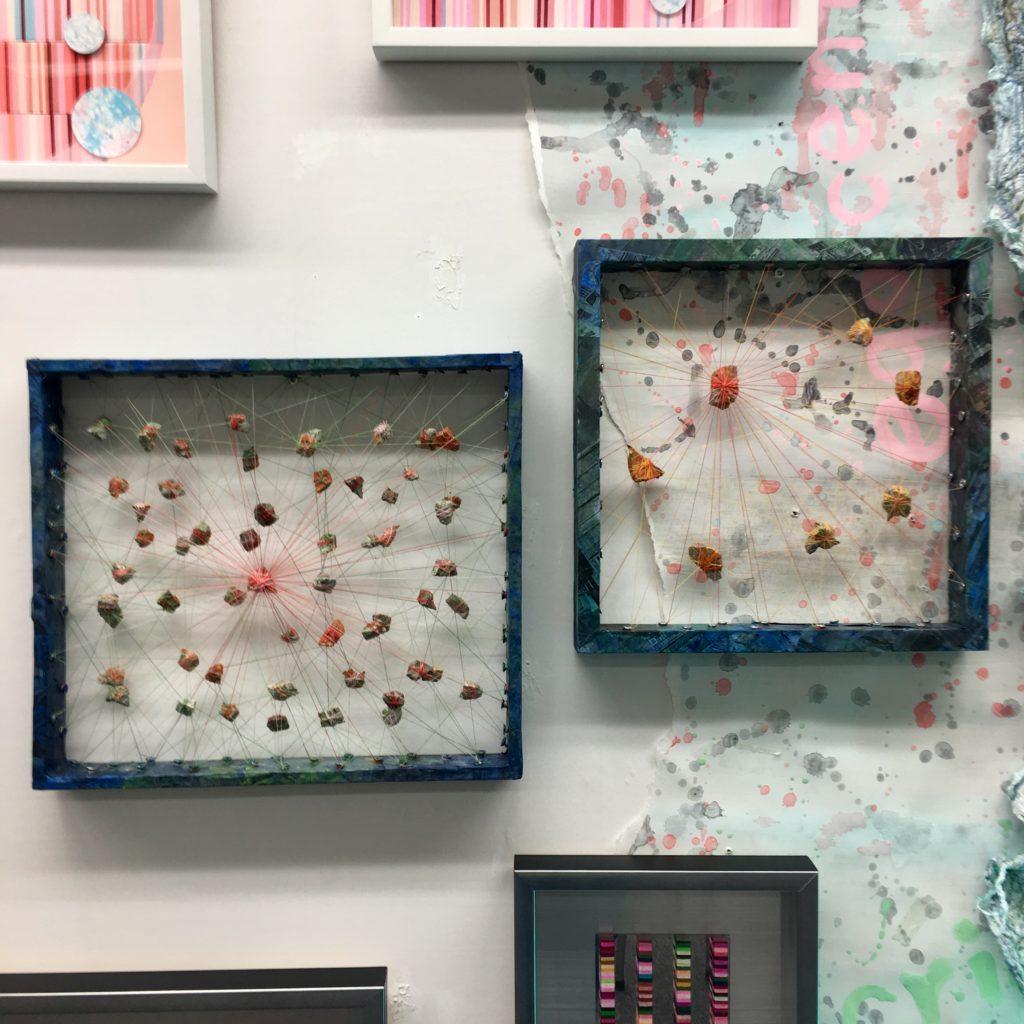 少し展示替えをしました 現代美術, 志村英美, シムラヒデミ, hidemishimura, fiberart, contemporaryart Hidemi Shimura